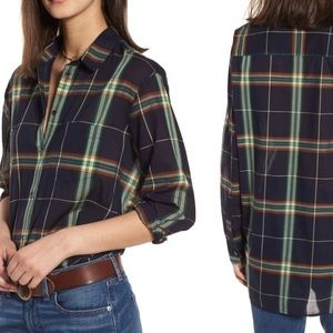 Madewell small plaid top
